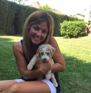 jill with dog