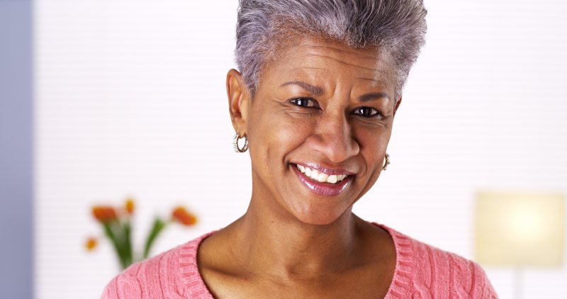 attractive older woman nice smile